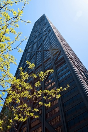 mile: The John Hancock building on Michigan Ave(Magnificent Mile) Editorial