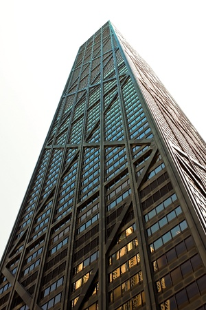 john hancock: The John Hancock building on Michigan Ave(Magnificent Mile) Editorial