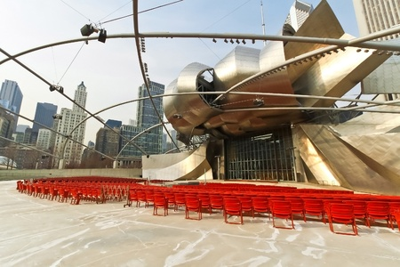 music hall: Jay Pritzker Pavilion an outdoor amphitheater in Millennium Park, Chicago, Illinois