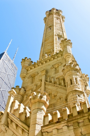 famous place: Chicago Water Tower in Chicago, Illinois