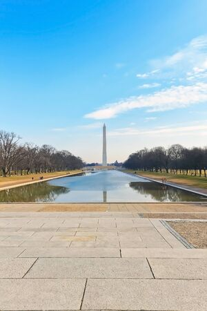 us government: Washington Monument  Stock Photo