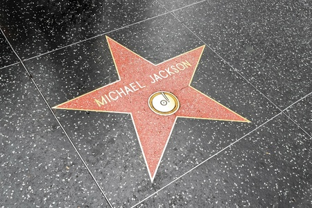LOS ANGELES DEC 29: Michael Jackson s star on the Hollywood Walk of Fame at Hollywood Blvd on December 29, 2009 in Hollywood, Los Angeles, CA. It is one of 2400 celebrity stars. Editorial