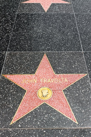 LOS ANGELES - MAY 18: John Travolta s star on the Hollywood Walk of Fame at Hollywood Blvd on May 18, 2009 in Hollywood, Los Angeles, CA. It is one of 2400 celebrity stars.