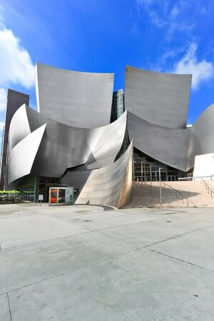 OS ANGELES - FEB 13: Walt Disney Concert Hall on February 13, 2010 features Frank Gehry iconic architecture located in Downtown Los Angeles, CA. The concert hall houses the Los Angeles Philharmonic Orchestra