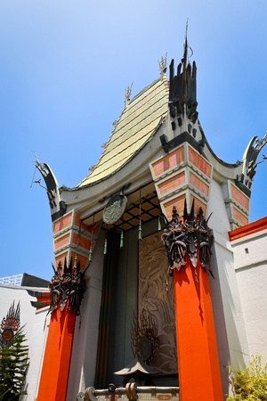 LOS ANGELES - MAY 18: Grauman s Chinese Theater on May 18, 2009 located on Hollywood Boulevard in Hollywood, California. Footprints and handprints of celebrities are ensconced in front of the building