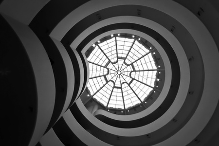 new look: NEW YORK - JAN 25: The ceiling of The Solomon Guggenheim Museum on January 25, 2010 in New York City, USA