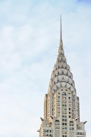 united  states of america: NEW YORK CITY - 23 gennaio: edificio facciata Chrysler il 23 gennaio 2010 a New York City. E 'stato l'edificio pi� alto del mondo' prima di essere superato da l'Empire State Building nel 1931.