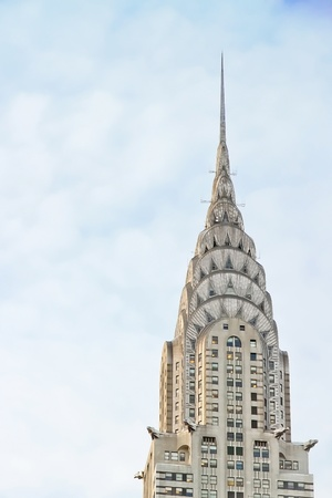 high rise buildings: NEW YORK CITY - JAN 23: Chrysler building facade on January 23, 2010 in New York City. It was the world tallest building before it was surpassed by the Empire State Building in 1931.