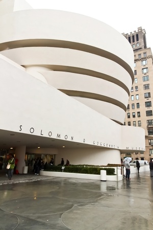 NEW YORK - JAN 25: Facade of The Solomon Guggenheim Museum on January 25, 2010 in New York City, USA   Editorial