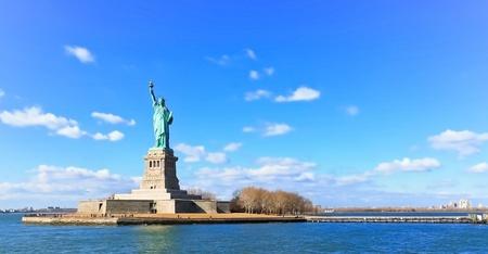 dama de la justicia: Paisaje vista panorámica de la Estatua de la Libertad
