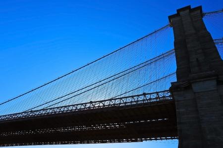 Silhouette of Brooklyn bridge Stock Photo - 12576101