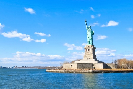 Landscape view of The Statue of Liberty  photo