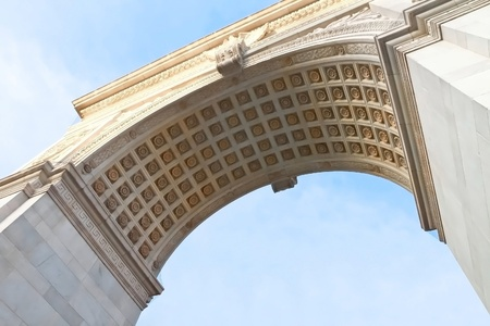 Detail of Washington Square arch photo