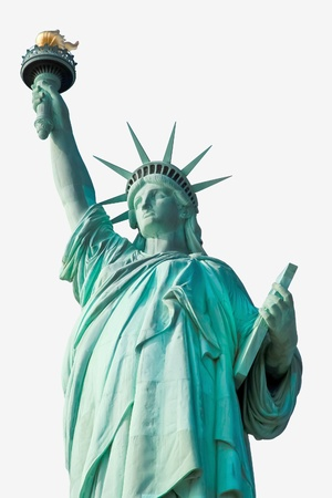 lThe Statue of Liberty isolated photo