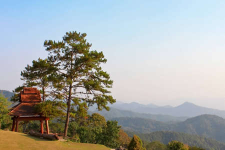 Beautiful mountain landscape of Huai Nam Dang National Park in Mae Hong Son, Thailand Stock Photo