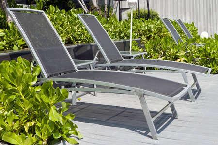 Modern deckchairs Stock Photo - 12577540