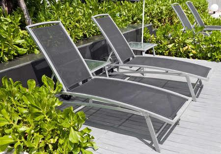 Modern deckchairs Stock Photo - 12577682