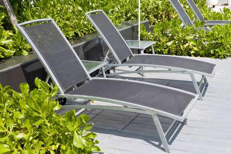 Modern deckchairs Stock Photo - 12577527