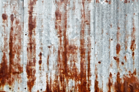 Grunge rusty corrugated iron metal photo