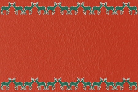 Christmas reindeer silhouette seamless pattern background photo