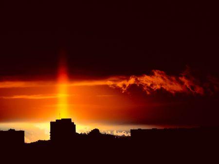 Sunrise. City. Stock Photo - 6667230