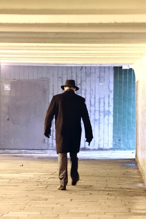 The man in the hallway.