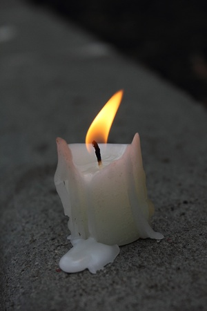 Candle. Fire.