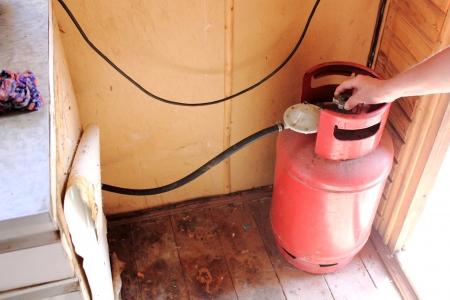 실린더: 가스 실린더. 화재 안전. 스톡 사진