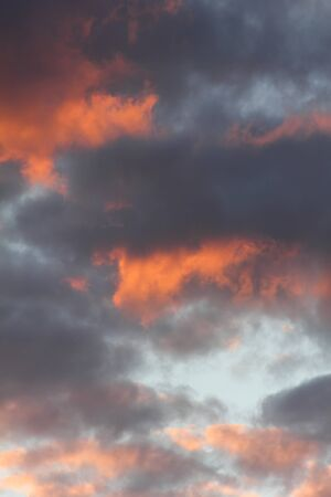 Clouds. Sunset.  photo