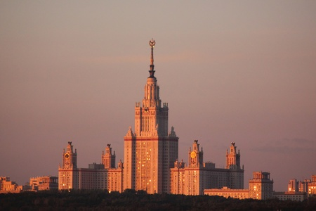 Morning Moscow. Moscow University.  photo
