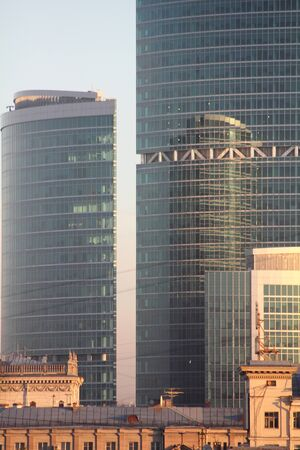 Modern buildings. Reflection. Stock Photo - 11806342