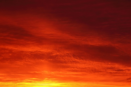 Dawn  Red clouds