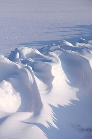 Snowdrifts  Winter   Stock Photo