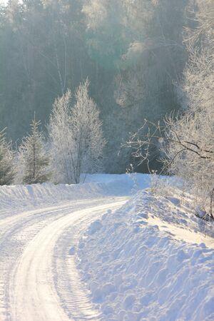 Winter road   photo