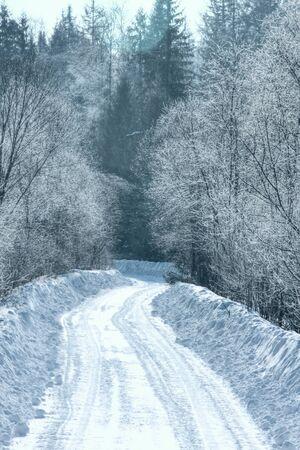 Winter road   Stock Photo - 13429134