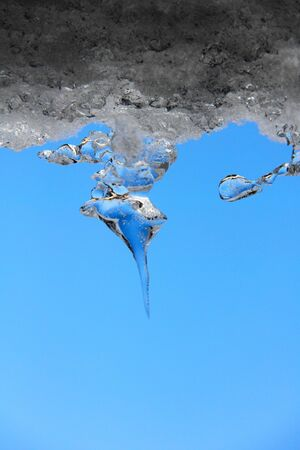 Icicles  Spring  Abstract form   photo