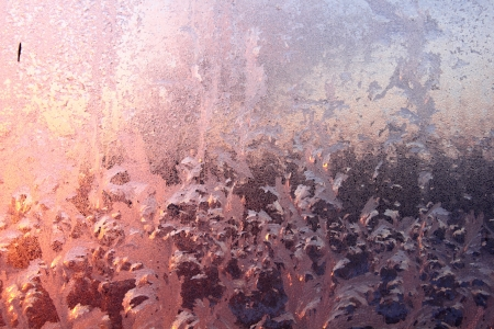Window frost  Dawn   photo