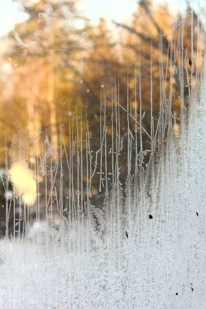 Window frost  Rural   Stock Photo - 17009504