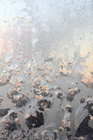 Window frost  Dawn  Frosty patterns  Stock Photo - 17288917