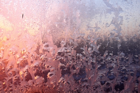 Window frost  Dawn  Frosty patterns  photo