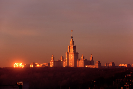 The building of the Moscow University. Stock Photo