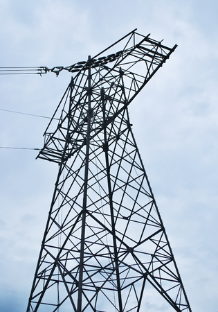 Experimental pylon of high voltage - end of wires.
