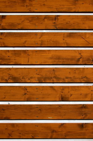 Part of wooden wall made from planks Stock Photo
