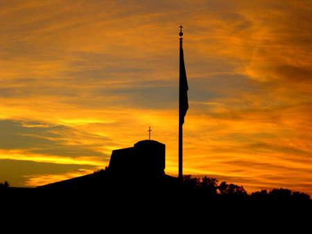 Sunset Around Church 版權商用圖片