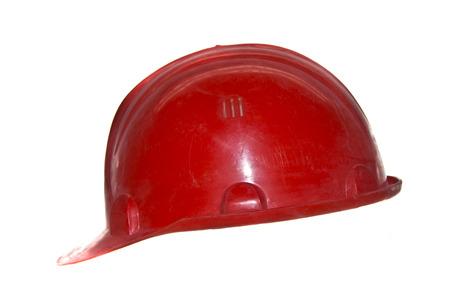 construction helmet isolated on white background Stock Photo