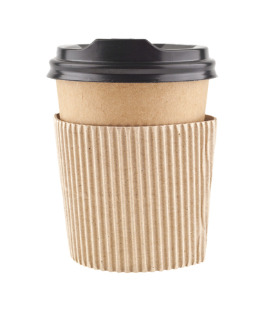 paper cup for coffee isolated on white background Stock Photo