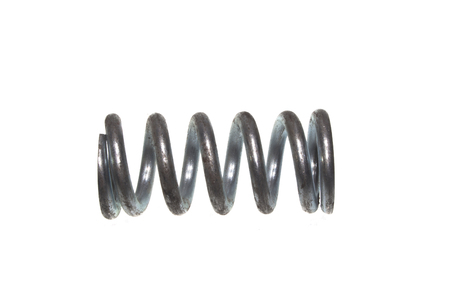 steel spring isolated on white background Stock Photo
