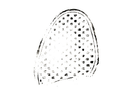 Footprint of shoe soles isolated on white background
