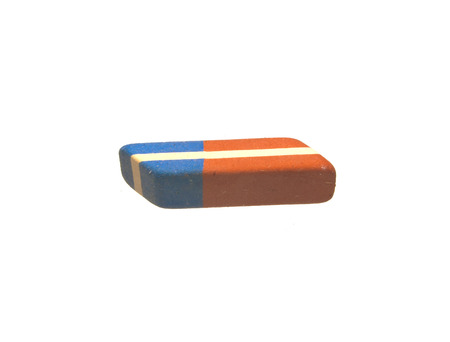eraser isolated on white background