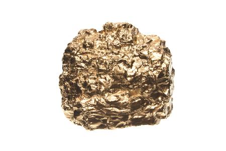golden stone isolated on white background Stock Photo